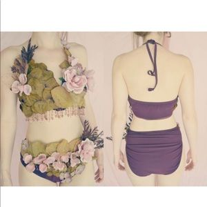 Flower fairy festival bikini dance costume